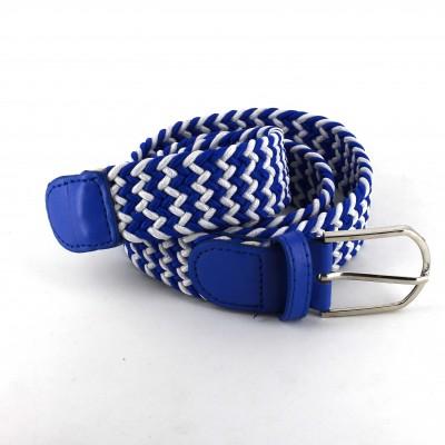 Cinturón Elástico Blanco y Azul