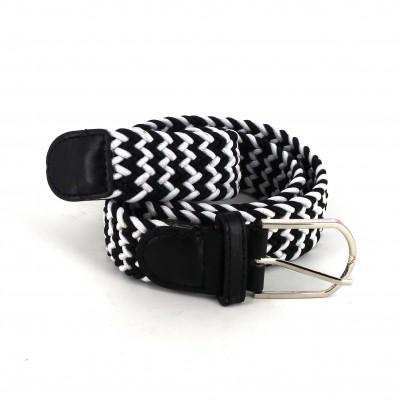 Cinturón Elástico Blanco y Negro II