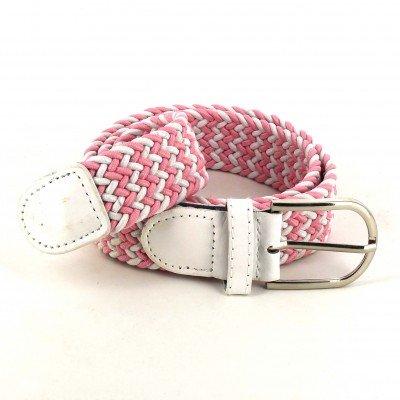 Cinturón Elástico Rosa y Blanco