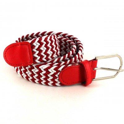 Cinturón Elástico Burdeos y Blanco
