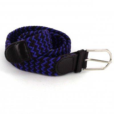 Cinturón Elástico Azul y Negro