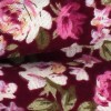 Pajarita Flores Granate