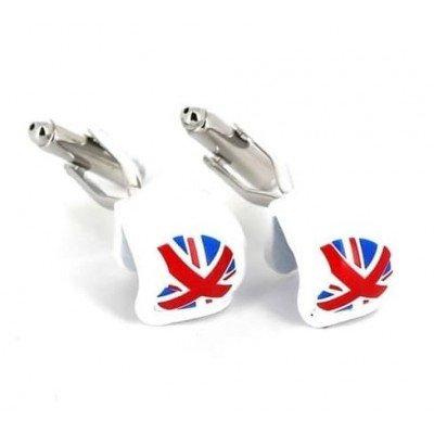 Gemelos Cascos Bandera Gran Bretaña