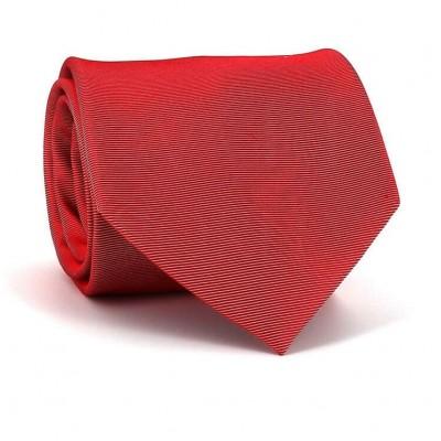 Corbata Lisa Roja Raya Horizontal