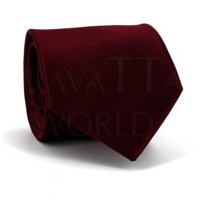 Corbata Lisa Rojo Tinto