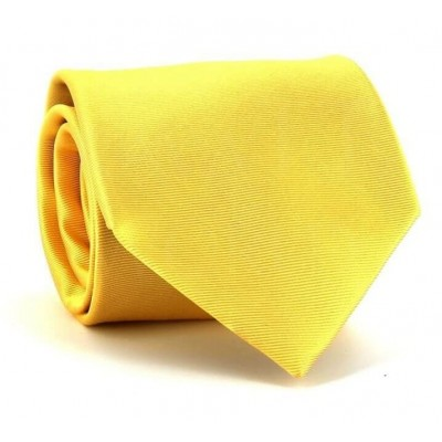 Corbata Lisa Amarilla Raya Horizontal