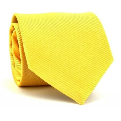 Corbata Lisa Amarilla MicroTwill