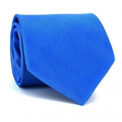 Corbata Lisa Azul MicroTwill