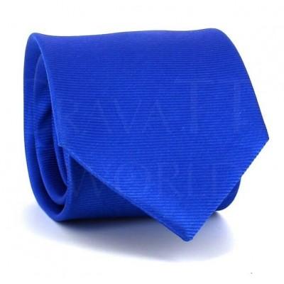 Corbata Lisa Azul Twill Horizontal
