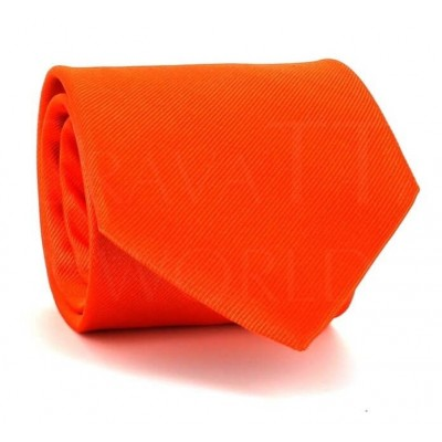 Corbata Lisa Naranja MicroTwill