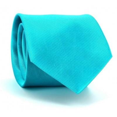 Corbata Lisa Azul Turquesa MicroTwill