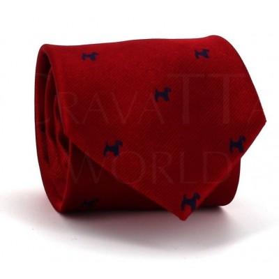 Corbata Perros Roja