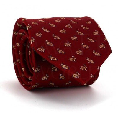 Corbata Conejos Roja