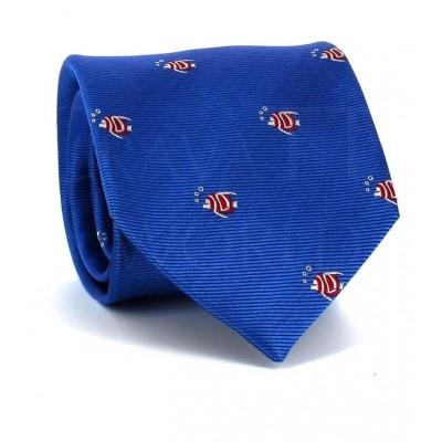 Corbata Peces Azul