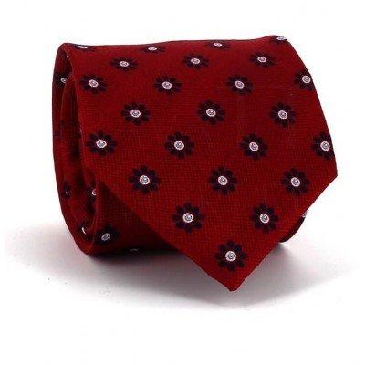 Corbata Flores Roja