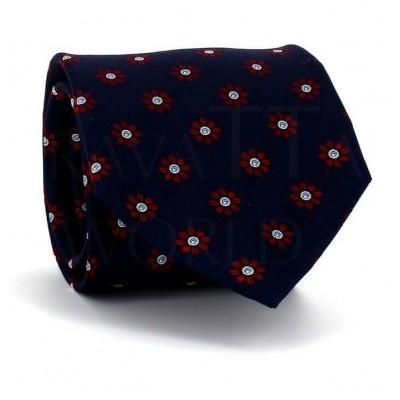 Corbata Flores Azul Oscuro