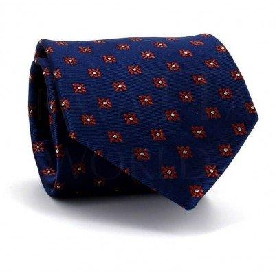 Corbata Flores Azul Marino