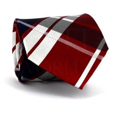 Corbata Cuadros Escoceses Roja