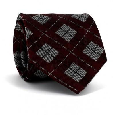 Corbata de Cuadros Granate
