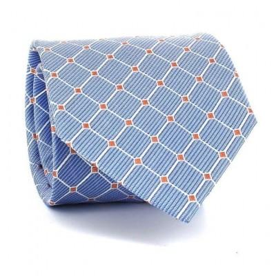 Corbata Cuadros Azul Celeste