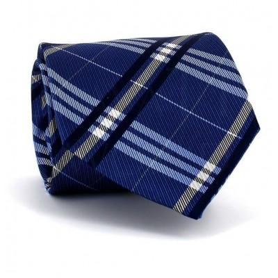 Corbata Cuadros Escoceses Azul