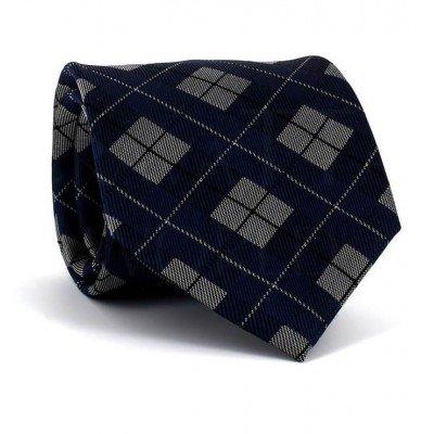 Corbata Cuadros Azul Marino