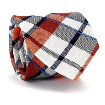 Corbata Cuadros Escoceses Naranja