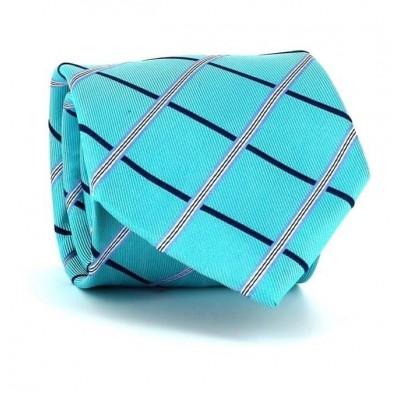 Corbata Cuadros Azul Turquesa