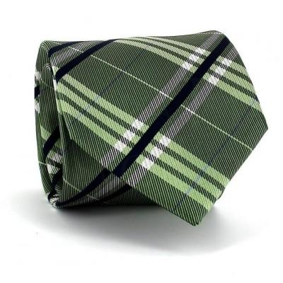 Corbata Cuadros Escoceses Verde Frontal