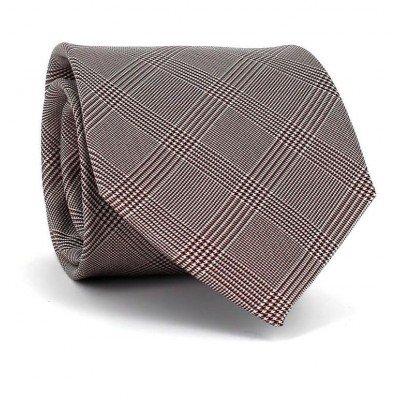 Corbata Cuadros Príncipe Gales Granate II