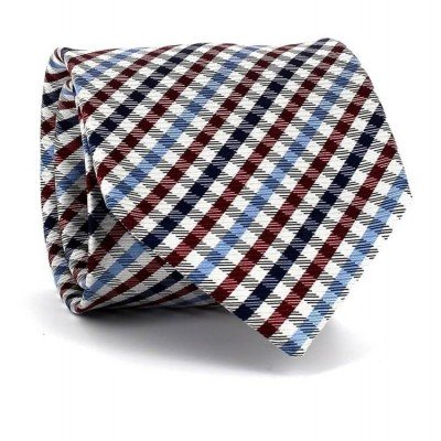 Corbata Cuadros Vichy Granate