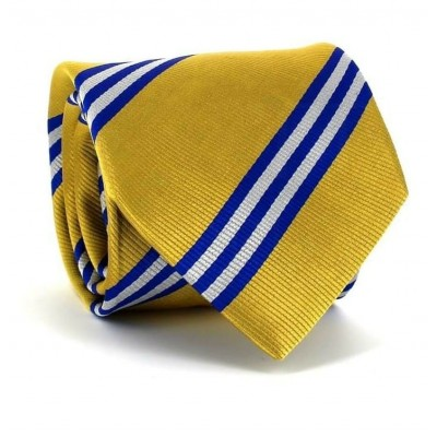 Corbata Rayas Dorada