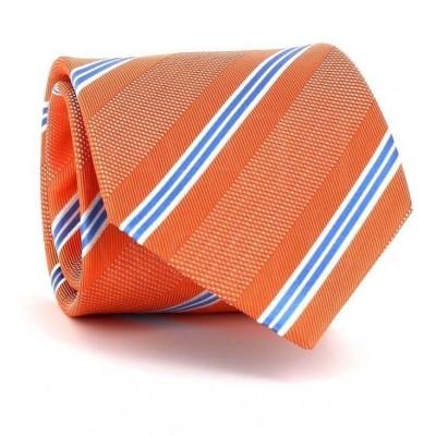 Corbata Rayas Naranja