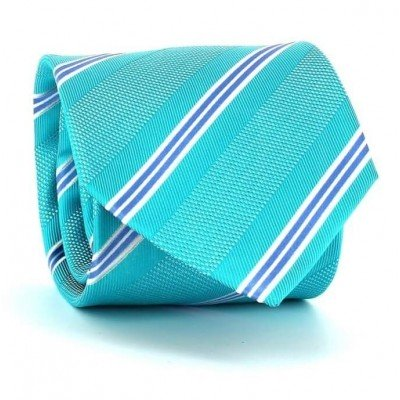 Corbata Rayas Azul Turquesa