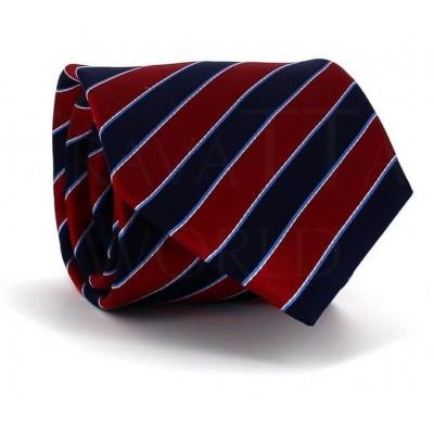 Corbata Rayas Roja y Azul
