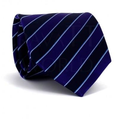 Corbata Rayas Púrpura y Negra