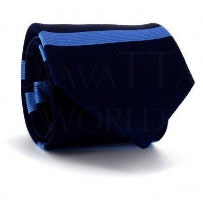 Corbata Rayas Horizontales Azul Frontal