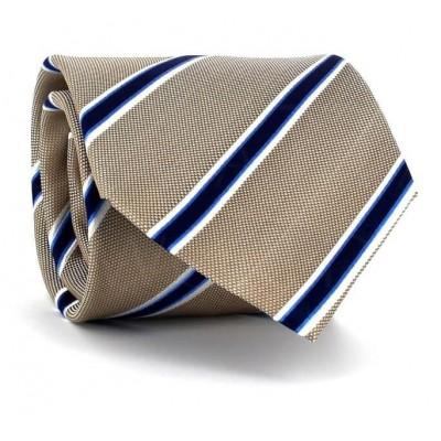 Corbata Rayas Beige