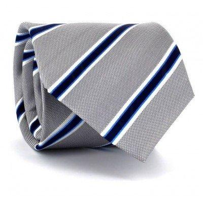 Corbata Rayas Plateada