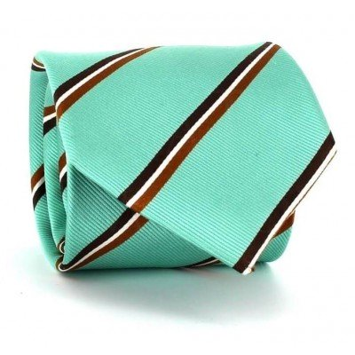 Corbata Rayas Verde Turquesa
