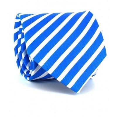 Corbata Rayas Azul y Blanca