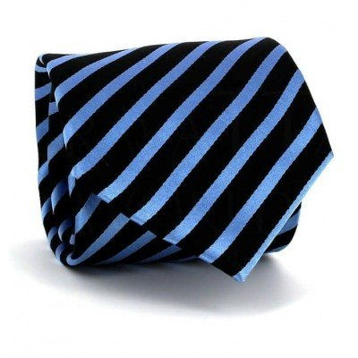 Corbata Rayas Azul y Negra