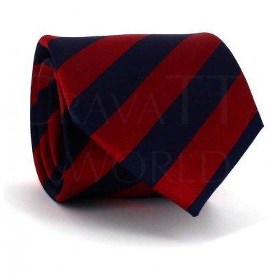 Corbata Rayas Rojo y Azul