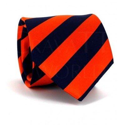 Corbata Rayas Naranja y Azul