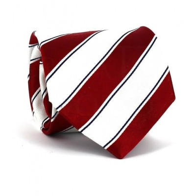 Corbata Rayas Roja y Blanca