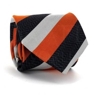 Corbata Rayas Tricolor Naranja