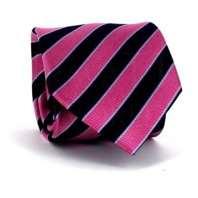 Corbata Rayas Rosa y Negra
