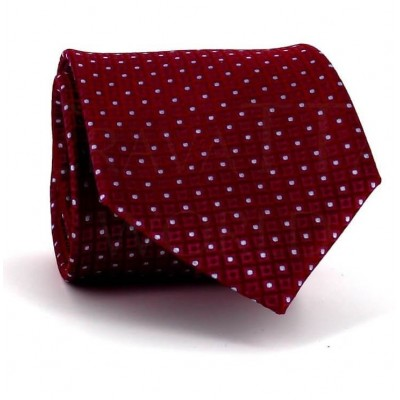 Corbata Lunares Estructura Roja