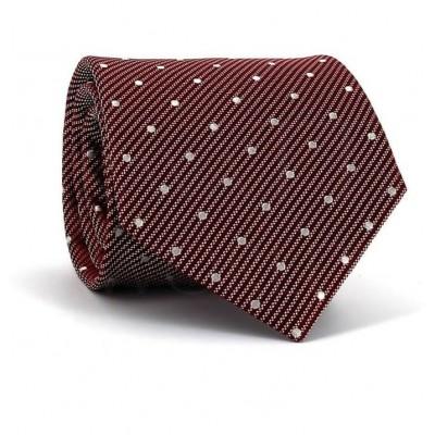Corbata Lunares Granate