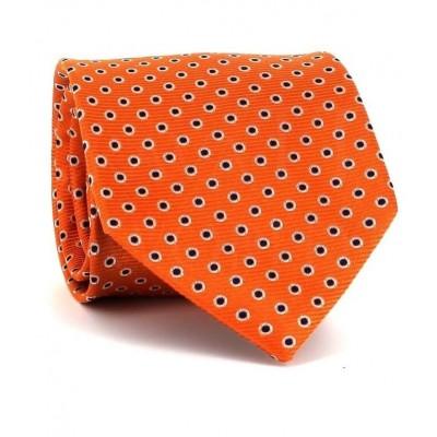 Corbata Lunares Naranja